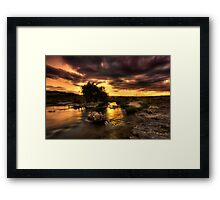 Sunset over the creek Framed Print