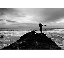 Summoning Up The Waves At Snapper Rocks Photographic Print