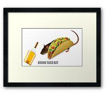 Drunk Taco Rat Framed Print