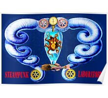 Steampunk Laboratory Poster