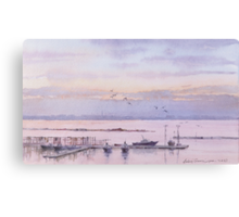 Harbor in Odessa Canvas Print