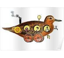 Steampunk Duckmobile Poster
