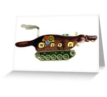 Steampunk Platypus Tank Greeting Card