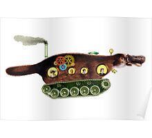 Steampunk Platypus Tank Poster