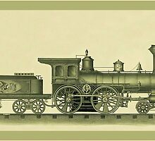 Steam Engine Illustration by Tickleart