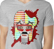 update face Mens V-Neck T-Shirt