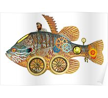 Steampunk Fish Carrier Poster