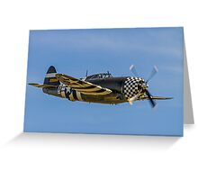 "Republic TP-47G Thunderbolt 42-25068/WZ-D ""Snafu"" Greeting Card"