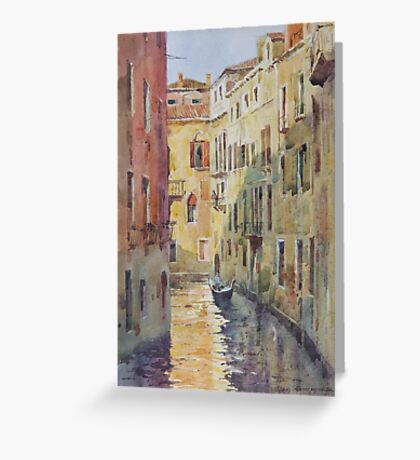 Streets and canals of Venice Greeting Card