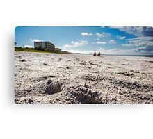 Getting Down on the Beach Canvas Print