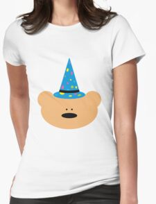 Teddy bear Wizard Womens Fitted T-Shirt