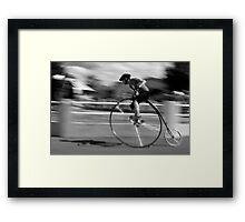 Penny Farthing race blur Framed Print