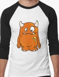 Cool orange Monster Men's Baseball ¾ T-Shirt