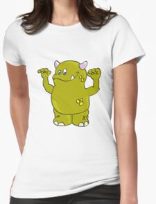 Cool green Monster Womens Fitted T-Shirt