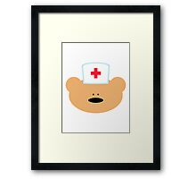 Teddy Bear Nurse Framed Print