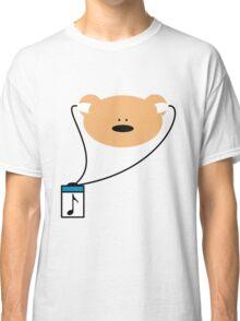 Teddy bear music headphones Classic T-Shirt