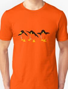 Three dancing Penguins Unisex T-Shirt