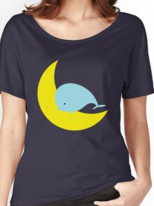 Whale jumping over the Moon Women's Relaxed Fit T-Shirt