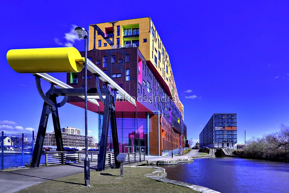 The chips building and Milliners Wharf Manchester by inkedsandra