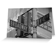 Broadway Greeting Card
