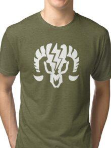 Bioshock Infinite Charge Vigor [White on Black] Tri-blend T-Shirt