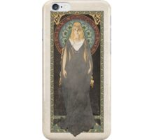The Lord of the Rings poster Galadriel - Lady of the Galadhrim / art nouveau iPhone Case/Skin