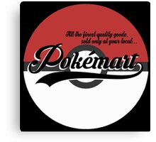 Pokemart retro logo Canvas Print