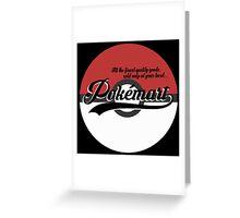 Pokemart retro logo Greeting Card