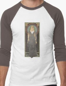 The Lord of the Rings poster Galadriel - Lady of the Galadhrim / art nouveau Men's Baseball ¾ T-Shirt