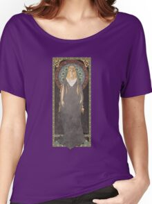 The Lord of the Rings poster Galadriel - Lady of the Galadhrim / art nouveau Women's Relaxed Fit T-Shirt