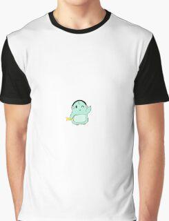 Cartoon Penguin Graphic T-Shirt