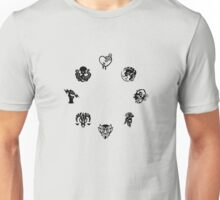 Bioshock Infinite Vigors [Black on White/Circle] Unisex T-Shirt