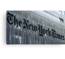 New York Times Canvas Print