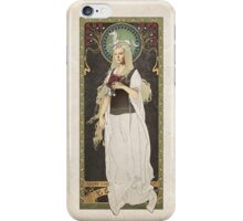The Lord of the Rings poster Éowyn - shieldmaiden of Rohan / art nouveau iPhone Case/Skin
