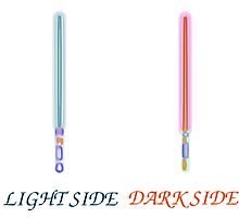light side vs dark side sabers Photographic Print