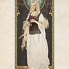 The Lord of the Rings poster owyn - shieldmaiden of Rohan / art nouveau by koroa