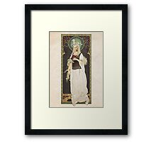 The Lord of the Rings poster Éowyn - shieldmaiden of Rohan / art nouveau Framed Print