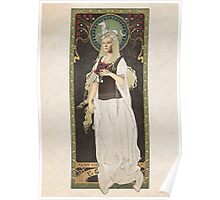 The Lord of the Rings poster Éowyn - shieldmaiden of Rohan / art nouveau Poster
