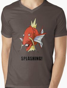 Splashing Mens V-Neck T-Shirt