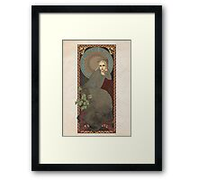 The Lord of the Rings / The Hobbit poster Thranduil the Elvenking / art nouveau Framed Print