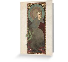 The Lord of the Rings / The Hobbit poster Thranduil the Elvenking / art nouveau Greeting Card