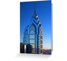 Liberty Place One and Two-Philadelphia, Pennsylvania Greeting Card