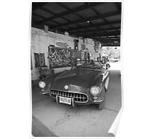 Route 66 Corvette Poster