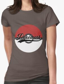 Pokemart retro logo Womens Fitted T-Shirt