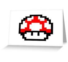 Mario Mushroom Greeting Card