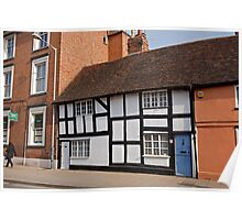 A tudor style house in Stratford Upon Avon Warwickshire England Poster