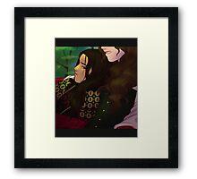 Gray, Red Warrior Framed Print