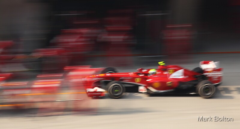 Felipe Massa enters the Ferrari Pit