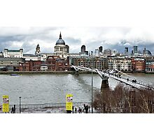Millennium Footbridge over the Thames in London Photographic Print