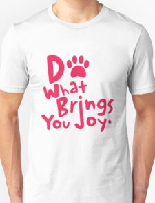Do What Brings You Joy, Red T-Shirt